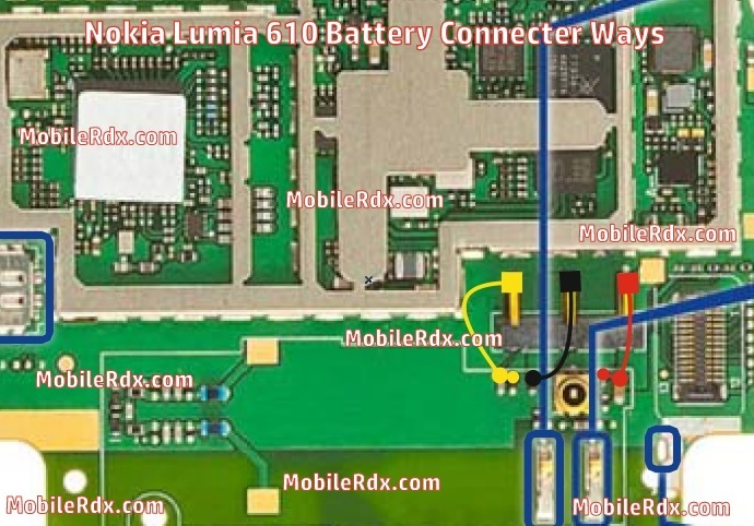 Nokia Lumia 610 Battery Connecter Ways - Repair Nokia Lumia 610 Battery Connecter Problem