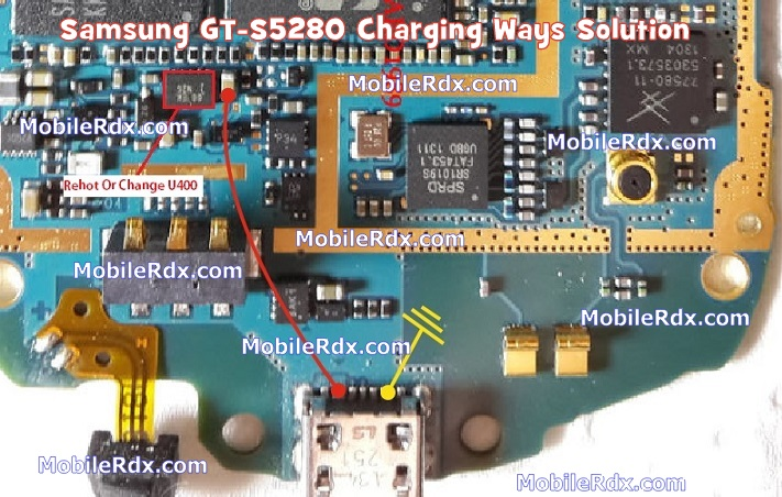 Samsung GT-S5280 Charging Problem Jumper Solution Ways