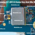 Samsung Gt-I8910 Home Key And Mic Ways Jumper