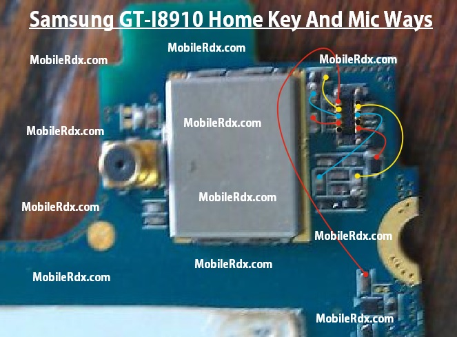 Samsung Gt I8910 Home Key And Mic Ways Jumper - Samsung GT-I8910 Mic And Home Key Ways