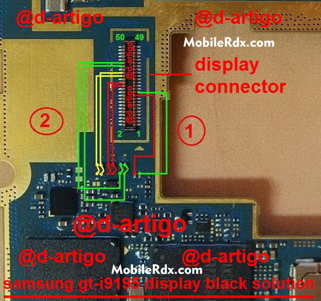 samsung gt-i9195 black display solution ways