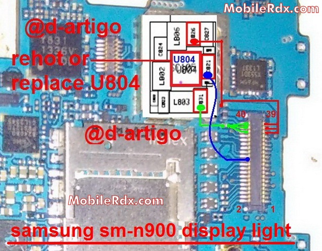 samsung sm-n900 light display solution ways