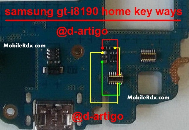 Samsung I8190 Galaxy 3 Home Button Problem Jumper
