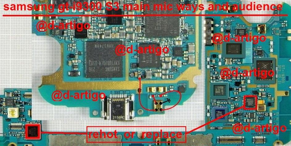 Samsung GT-I9300 Mic Ways Problem Microphone Solution