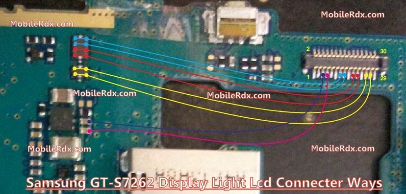 Samsung GT S7262 Display Light ic Ways Lcd Jumper Solution