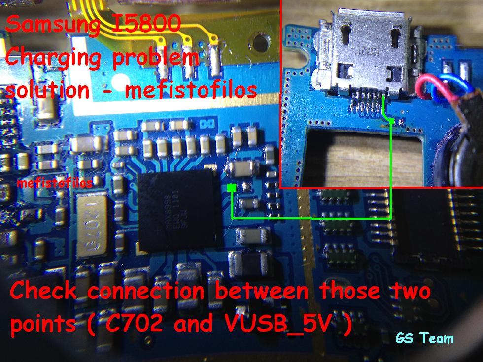 Samsung I5800 Galaxy 3 Charging Problem Ways - Samsung GT-I5800 Charging Solution Jumper Ways