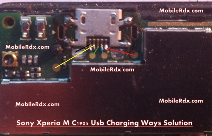 Sony Xperia M C1905 Usb Charging Ways Solution
