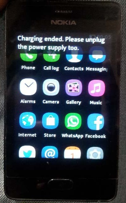 nokia 501 charging problem