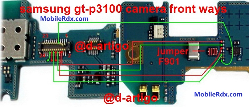 samsung gt p3100 camera front vga ways