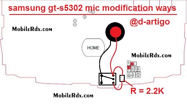 samsung gt s5302 mic modification ways