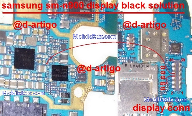samsung n900 s black display solution jumper