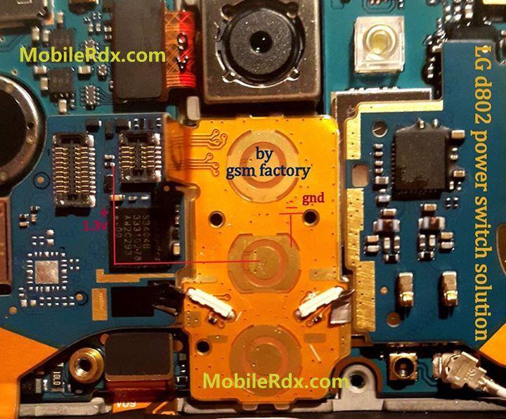 LG G2 D802 Power Switch Button Ways Jumper