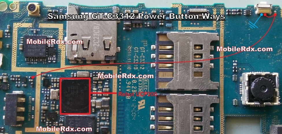 Samsung Duos C3312 Power Button Ways On Off Switch Jumper - Samsung GT-C3312 Power Switch Hold Key Jumper Solution