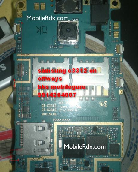 Samsung GT C3312 Power Key Ways On Off Switch Jumper - Samsung GT-C3312 Power Switch Hold Key Jumper Solution