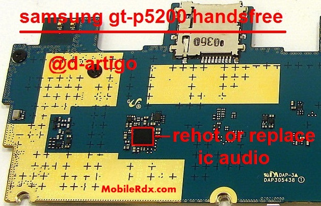 Samsung GT P5200 Handsfree Problem Headphone Solution - Samsung GT-P5200 Handsfree Headphone Problem Repair