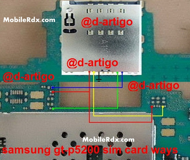 Samsung GT-P5200 Sim Card Ways Problem Jumper Solution