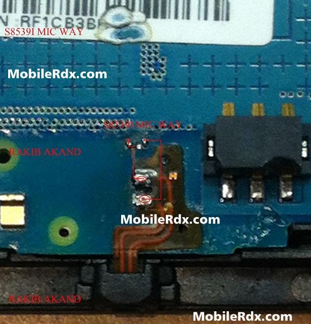 Samsung GT-S5839i Mic Ways Solution Jumper