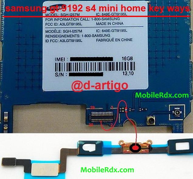 Samsung Galaxy S4 Mini I9192 Home Key Buton Jumper Solution