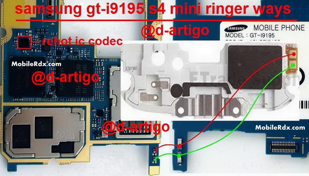 Samsung Galaxy S4 Mini I9195 Speaker Ways Ringer Jumper Solution
