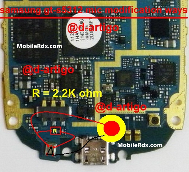 Samsung Gt-S5310-S5312 Mic Ways Modification Solution