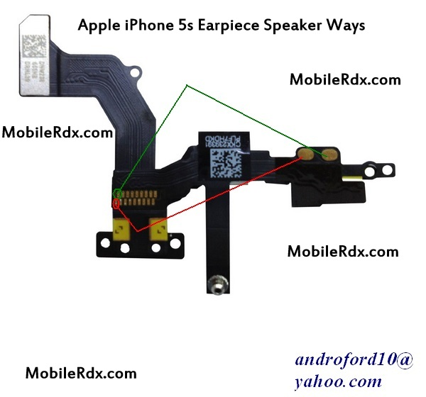 Apple iPhone 5s Earpiece Speaker Jumper Solution Ways - IPhone 5s Earpiece Speaker Solution Ways