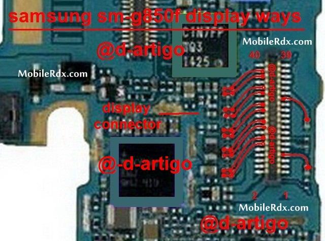 Samsung G850F Display Ways Problem Jumper Solution