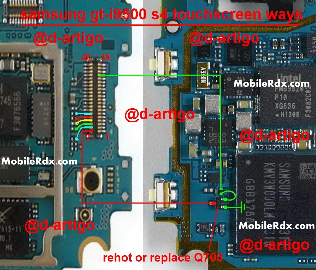 Samsung GT-I9500 Touch screen Ways Problem Jumper Solution