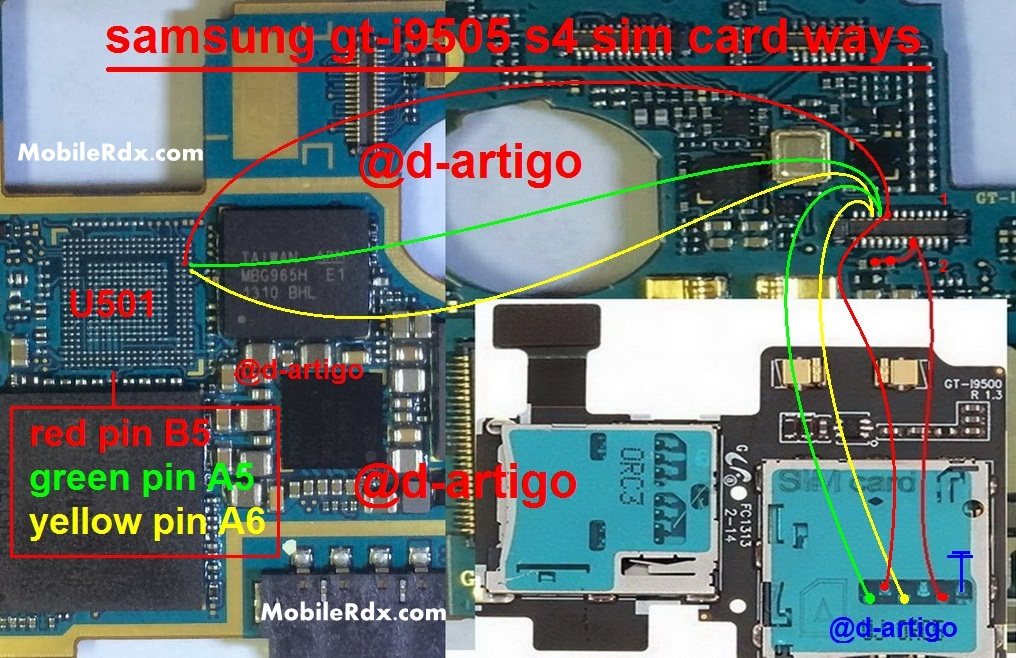 Samsung GT I9505 Galaxy S4 Sim Card Ways Problem Jumper