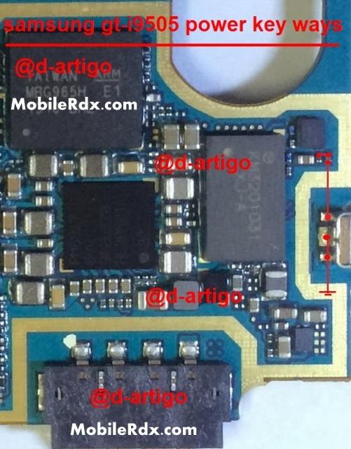 Samsung GT I9505 Power Button Ways Switch Jumper