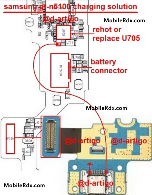 Samsung GT N5100 Charging Ways Problem Jumper Solution