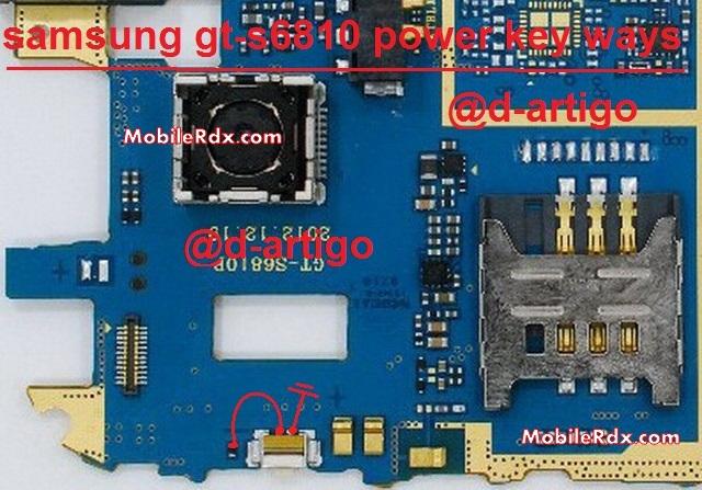 Samsung GT S6810 Power Key Ways On Off Switch Jumper - Galaxy Fame S6810 Power Switch Ways Problem Jumper
