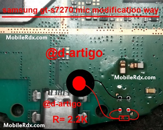 Samsung GT-S7270 Mic Solution Modification Ways