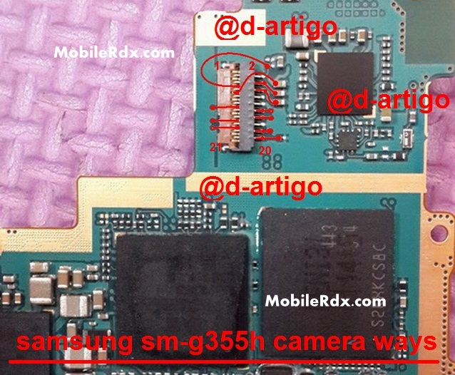 Samsung SM-G355H Camera Connecter Ways Solution Jumper