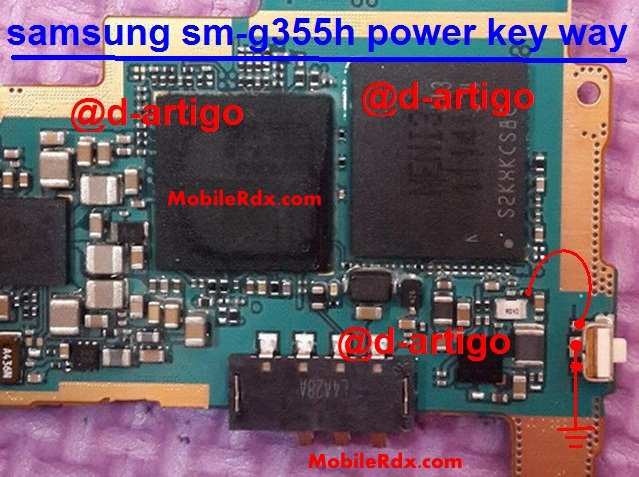 Samsung SM G355H Power Button Ways Key Jumper