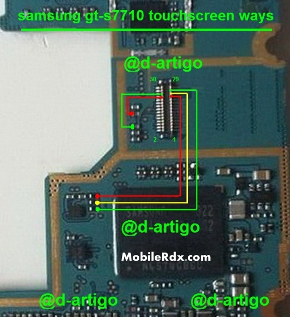samsung gt-s7710 touchscreen connecter ways jumper