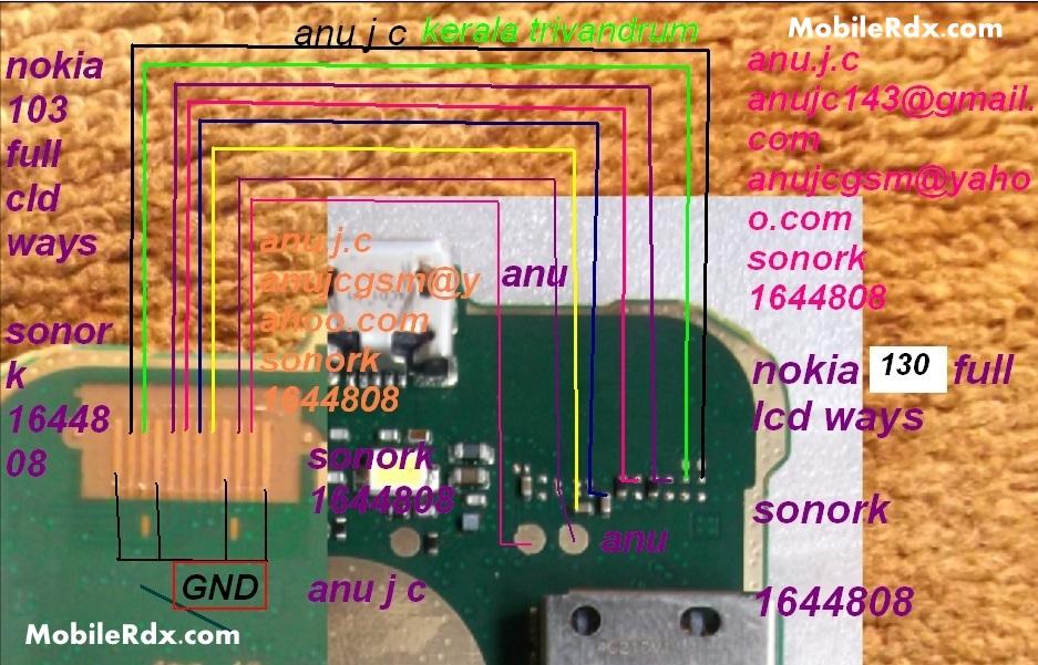 Nokia 130 Lcd Ways Display Problem Solution Jumper