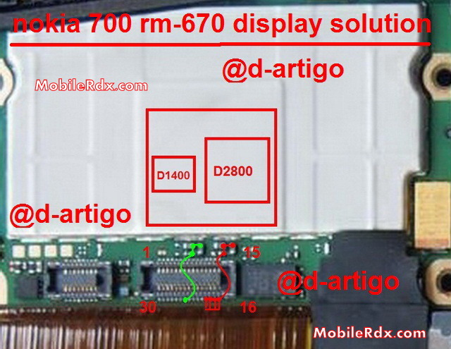 Nokia 700 Display Light Ways White Lcd Problem Jumper Solution