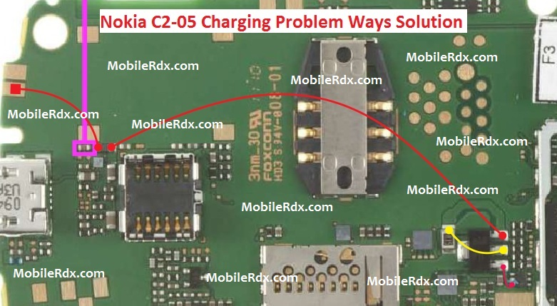 Nokia C2-05 Charging Ways Problem Jumper Solution