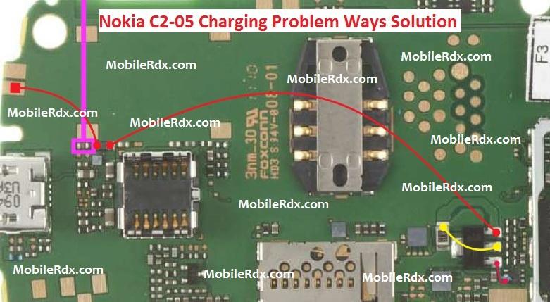 Nokia C2 05 Charging Ways Problem Jumper Solution