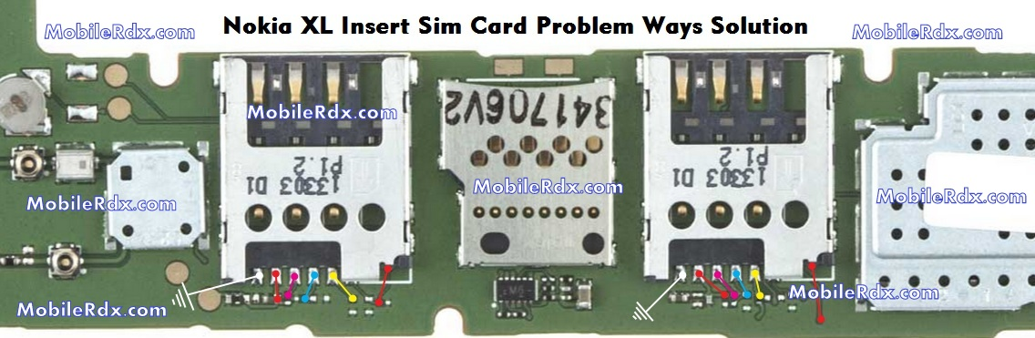 Nokia Xl Insert Sim Card Jumper Ways Solution Repair - Nokia Xl Insert Sim Card Ways Problem Jumper