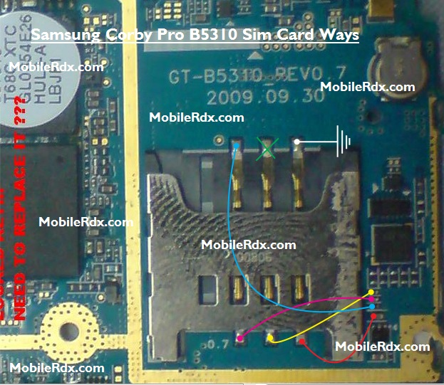 Samsung GT-B5310 Sim Card Ways Problem Jumper Solution