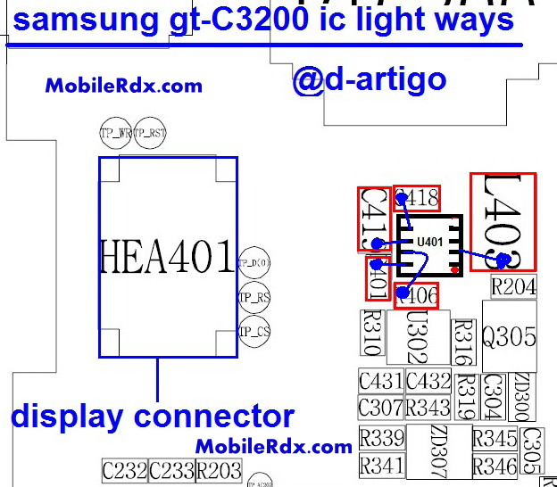 Samsung GT-C3200 Display Light Ways Lcd Ic Jumper Solution