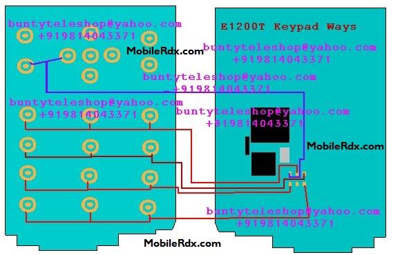 Samsung GT-E1200T Keypad Ways Jumper Solution