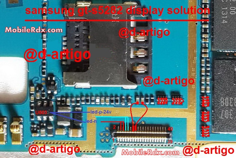 Samsung GT-S5282 Display Problem Light Ways Solution