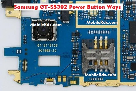 Samsung GT-S5302 Power Key Ways On-Off Button Jumper Solution