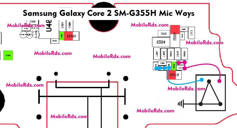 Samsung Galaxy Core 2 SM G355H Mic Ways Problem Jumper Solution - Samsung Galaxy Core 2 G355H Mic Problem Solution Ways
