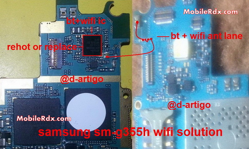 Samsung Galaxy Core 2 SM-G355H Wifi And Bluetooth Problem Repair Solution
