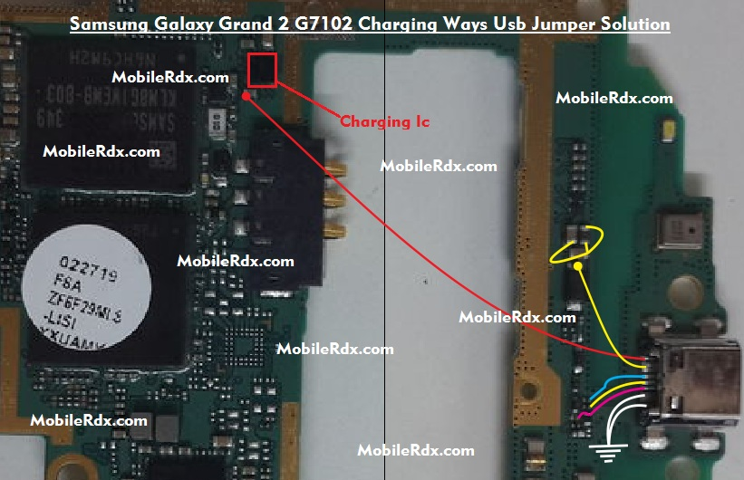 Samsung Galaxy Grand 2 G7102 Charging Ways Usb Jumper Repair Solution