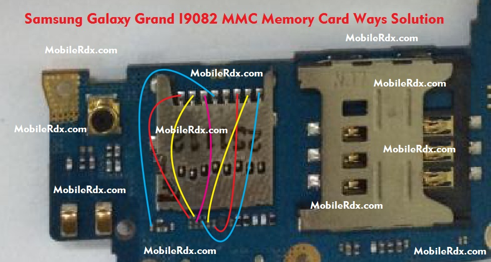 Samsung Galaxy Grand I9082 MMC Ways Memory Card Problem Jumper Solution - Samsung Galaxy Grand I9082 MMC Ways Memory Card Solution
