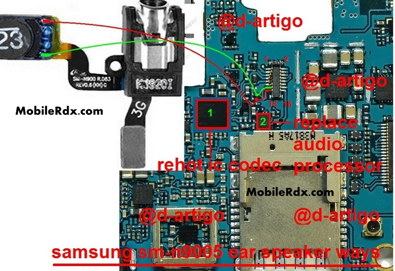 Samsung Galaxy Note 3 SM N9005 Earpiece Speaker Ways Jumper Solution